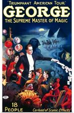 Poster Print Wall Art entitled George, The Supreme Master of Magic, Carload of