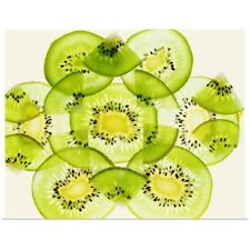 Poster Print Wall Art entitled Pieces of kiwi fruit forming a pattern