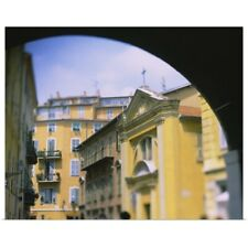 Poster Print Wall Art entitled Buildings in a city, Nice, Cote dAzur, France