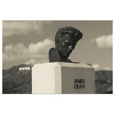 Poster Print Wall Art entitled Bust of actor James Dean, Griffith park