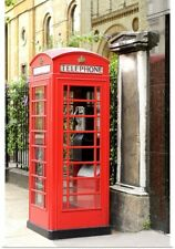 Poster Print Wall Art entitled Telephone booth in London, England