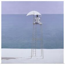 Poster Print Wall Art entitled Beach guard, 2004 (acrylic on canvas)