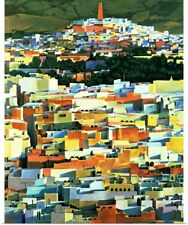 Poster Print Wall Art entitled North African Townscape (oil on canvas)