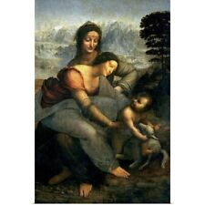 Poster Print Wall Art entitled Virgin and Child with St. Anne, c.1510 (oil on