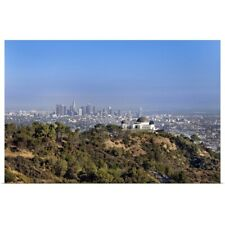 Poster Print Wall Art entitled A view from a hiking trail in Griffith Park of