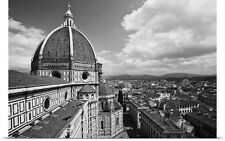 Poster Print Wall Art entitled A view of the Santa Maria del Fiore Duomo and the
