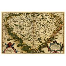 Poster Print Wall Art entitled Ortelius's map of Bohemia, 1570