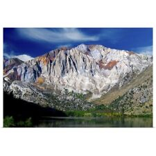 Poster Print Wall Art entitled Convict lake and Laurel mountain, California