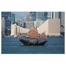 Poster Print Wall Art entitled Tour boat, Victoria Harbor, Hong Kong, China