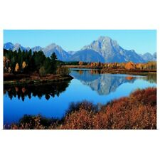 Poster Print entitled Oxbow Bend, Snake River and Tetons, Grand Tetons National