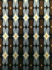 Brown & Gray Geometric Pattern on Stretch ITY Jersey Polyester Spandex Fabric