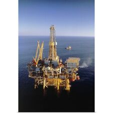 Poster Print Wall Art entitled Off-shore oil rig