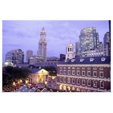 Poster Print Wall Art entitled Faneuil Hall, Quincy Market, Boston,