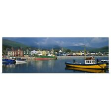 Poster Print Wall Art entitled Boats Moored At A Harbor, Dingle Harbor, County