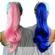 Womens Ladies Long Curly Wavy Wig Party Cosplay Ponytail Clip-in Hair 11 Colors