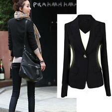 Custom Fit Black Womens Suit Blazer Jacket Coat OL/Casual/Business Outerwear