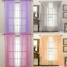 Fashion Nice Door Window Curtain Drape Panel or Scarf Assorted Scarf Sheer Voile