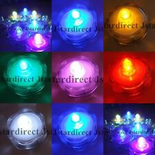 48 SUBMERSIBLE Tea Light for Wedding Waterproof Feather Centerpiece Decor US