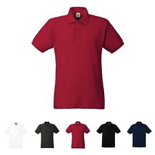 Mens Heavy Cotton Polo Shirt T Shirt Fruit of the Loom SS207