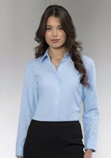 Womens Ladies Russell Collection Long Sleeve Easycare Oxford Work Shirt Blouse