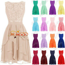 STOCK New Short Lace Formal Bridesmaid Dresses Prom Party Evening Ball Gown 6-20