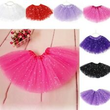 Solid Sweet Tutu Skirt Girls Kids Party Ballet Dance Dress Pettiskirt Clothing