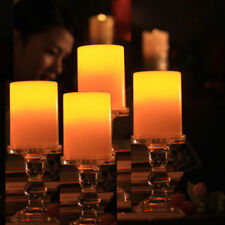 4x New Indoor/Outdoor Flameless Resin Pillar LED Candle with 4&8 Hour Timer