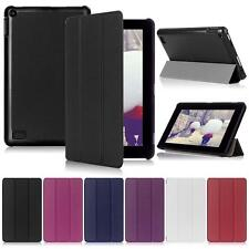 Leather Folio Stand Cover Case For Amazon Kindle Fire HD 7 Inch Tablet 2016 TR