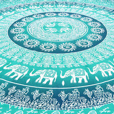 Queen Ombre Mandala Tapestry Wall Hanging Bedspread Boho Bohemian Indian Hippie