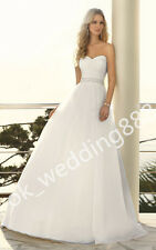 New Sweetheart Wedding Dress Bridal Gown Party Pageant Prom Formal Deb Custom