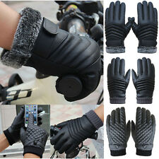 UK Anti Slip Soft Leather Winter Warm Fleece Lining Touch Screen Driving Gloves