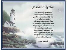 Dad Father Personalized Poem Gift Fathers Day A Dad Like You