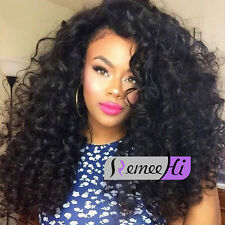 "16"" 18"" beauty curly lace front wig brazilian human hair baby hair 180% density"