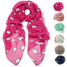 Lady Womens Cute Penguin Print Scarf Shawl Soft Scarves Voile Scarves HOT SALE