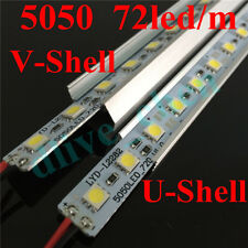 1m 0.5m 0.25m 5050 Led SMD Strip Light Rigid Bar Aluminum Case Shell Cap DC 12V