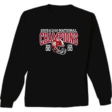 Alabama Crimson Tide 2015 National Champions Long Sleeve T-Shirt Score - Helmet