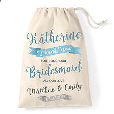 Bridesmaid wedding favour thank you gift bag | Personalised Maid of honour bag.