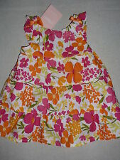 Gymboree FAIRY FLORAL Baby Pink Flower Tiered Bow Dress Bloomer Diaper Cover NWT