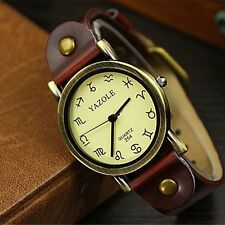 New Casual  Men Women's Faux Leather Sport Analog Quartz Wrist Watch Fashion
