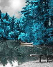 Lake of Blue Home Decor Picture Wall Art Landscape Trees 2
