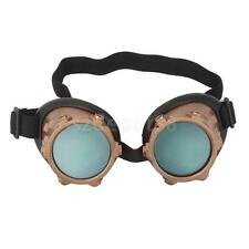 Vintage Cyber Goggles Steampunk Welding Goth Cosplay Photo Prop Punk Glass