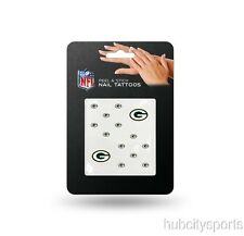 Green Bay Packers Nail Tattoos Peel & Stick NEW! Free Shipping NFL