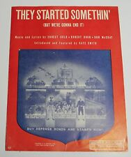 Sheet Music - They Started Somethin' (But We're Gonna End It) Sour, McCray, Gold