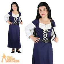 Child Maid Marion Costume Girls Medieval Marian Robin Hood Fancy Dress Outfit