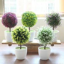 artificial fake green potted plants plastic tree home garden table office decor artificial plants for office decor