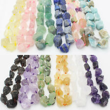 "18-36mm Rough Natural Stone Freeform Beads For Jewelry 15"",Amethyst,Amazonite,"