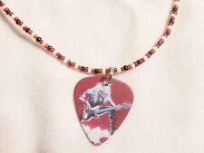 Beaded Guitar Pick Necklace ( Iron Maiden - Eddie on Bass )