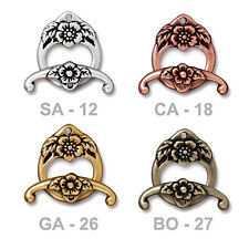 TierraCast Floral Toggle Clasp - 4 color options - plated pewter jewelry clasp