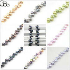 Jewelry Making DIY Freeform Natural Freshwater Pearl Beads 8-9mm Strand 15""