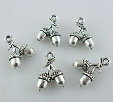 12/60/300pcs Tibetan Silver 3D Loose fruit Charms Pendants For Jewelry Findings